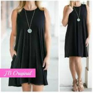 NWT Jenny Boston Boutique Black Dress Large